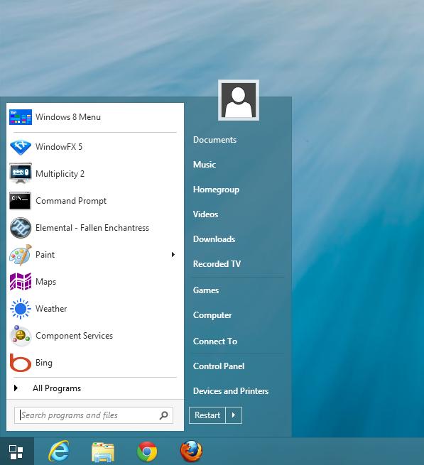 Classic Shell • View topic - Windows 8 1 Start Menu skin